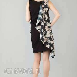 szare sukienki zwiewna sukienka z woalką lilka