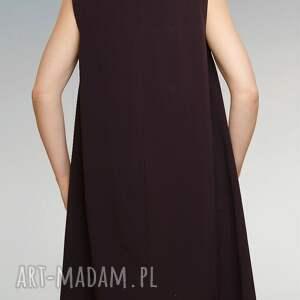 ręcznie zrobione sukienki bordowa sukienka ze streczu z dłuższymi