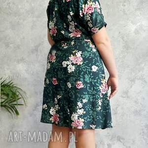 awangardowe sukienki sukienka zielona w różowe