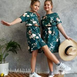 zielone sukienki sukienka zielona w kwiaty