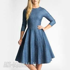 ręcznie wykonane sukienki midi sukienka zuza denim