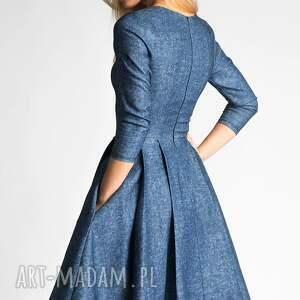 kieszenie sukienki sukienka zuza midi denim
