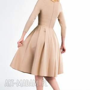 sukienki kieszenie sukienka zuza midi cappucino