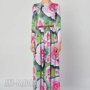 niesztampowe sukienki długa suknia - botanical garden
