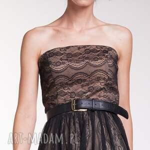 sukienki suknia wieczorowa uszyta z delikatnej, czarnej