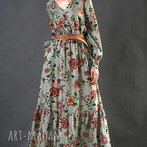 kwiatowa sukienki suknia maxi w kwiaty paloma