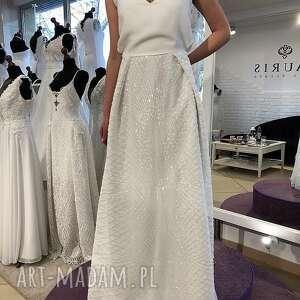 sukienki: Suknia ślubna model z salonu - wyprzedaż kolekcji rozmiar 38 suknia-ślubna