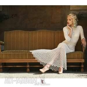 eleganckie sukienki suknia ślubna koronkowa
