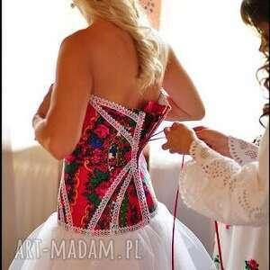 awangardowe góralska suknia ślubna inspirowana