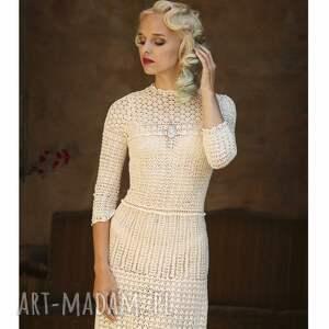 szydelkowa sukienki suknia ślubna koronkowa