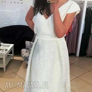 sukienki: Suknia ślubna model z salonu - wyprzedaż kolekcji rozmiar 38 panna młoda