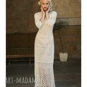 sukienki szydelkowa suknia ślubna koronkowa