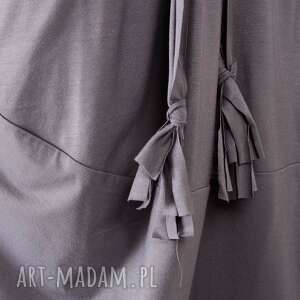 sukienki prosta szara sukienka oversize z dzianiny