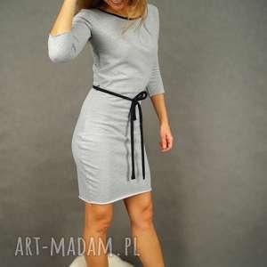 sukienki rękaw 3-4 szara sukienka dresowa z rękawem