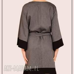 modne sukienki elegancka szaro czarna sukienka