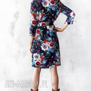 sukienki sukienka szmizjerka w malowane kwiaty