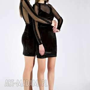 sukienka na imprezę sukienki tamashi - czarna aksamitna