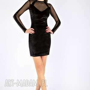 sukienki sukienka na imprezę tamashi - czarna aksamitna