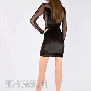sukienki sukienka wieczorowa tamashi - czarna aksamitna