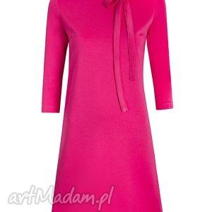 kokardka sukienki trapezowa sukienka z kokardką