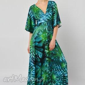 wyraziste sukienki długa tropikalna magdalena - sukienka
