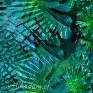 długa sukienki zielone tropikalna magdalena - sukienka