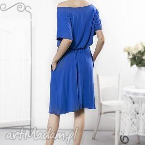 sukienki letnia uniwersalna szafirowa sukienka
