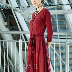 sukienki sukienka v-neck z dzianiny