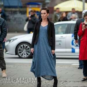niebanalne sukienki boho sukienka w otchłani błękitu