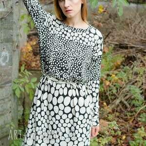 wełniana sukienki sukienka z angorą