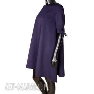 ręcznie wykonane sukienki elegancka wełniana sukienka z kokardkami