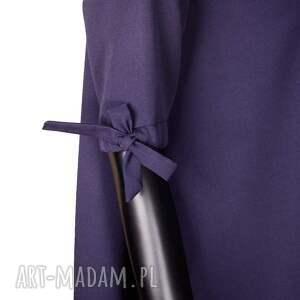 prosta sukienki wełniana sukienka z kokardkami