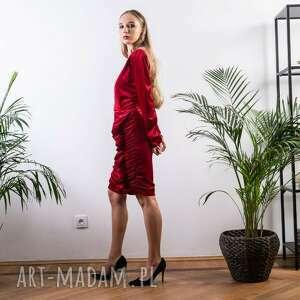niebanalne sukienki welurowa sukienka na świę mini mydream