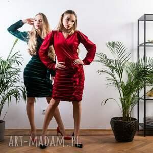 niebanalne sukienki welurowa sukienka mini mydream
