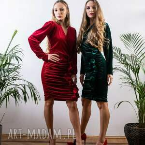 sukienki welurowa sukienka na świę mini mydream