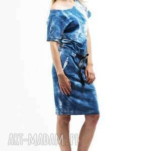 41448713b7 handmade sukienki - wygodna sukienka z dzianiny dresowej niebieska