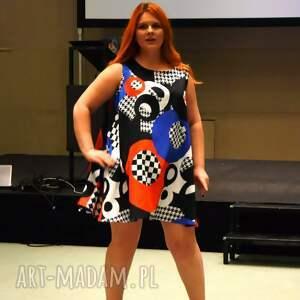 hand made sukienki designerska wyjątkowa, geometryczna sukienka