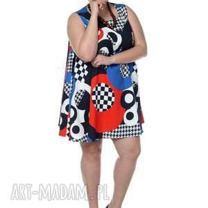 polska marka sukienki wyjątkowa, geometryczna sukienka