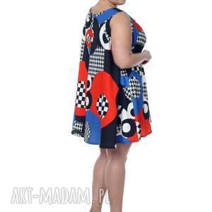 hand made sukienki polska marka wyjątkowa, geometryczna sukienka
