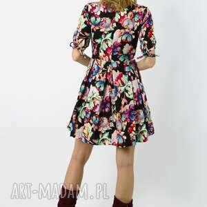 wyraziste sukienki sukienka yuri - bambusowa rozkloszowana