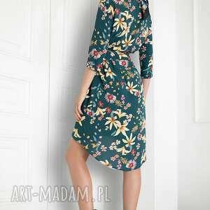 wyjątkowe sukienki sukienka zielona w kwiaty