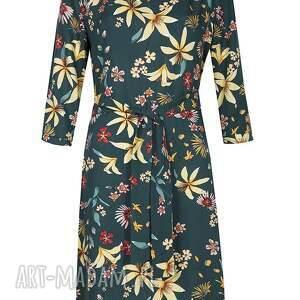 kolorowe sukienki sukienka zielona w kwiaty