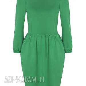 bufki sukienki zielona sukienka z bufkami