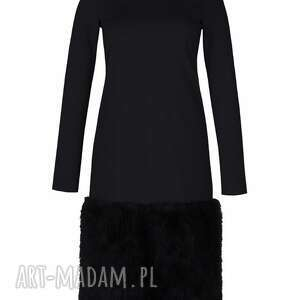 sukienki sukienka zimowa z futrem