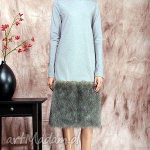 zima sukienki zimowa sukienka z futrem