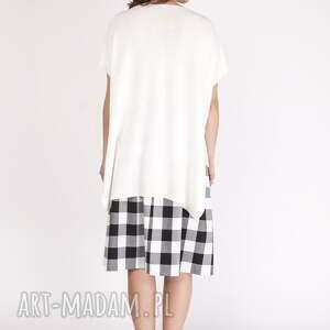 sweter asymetryczny dzianinowy top