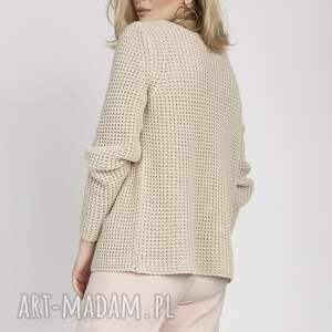 modne swetry asymetryczny sweter, swe168 beż