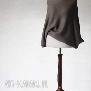 asymetryczny swetry niebieskie sweter z wełny merino