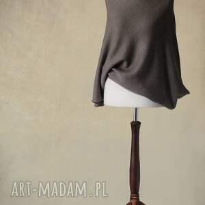 ręcznie robione swetry wełna asymetryczny sweter z wełny merino