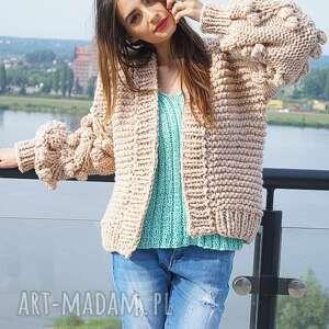 na-drutach swetry beige bomber